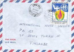 Congo 1989 Pointe Noire Dove Pigeon Human Rights Droits De L´homme Cover - Congo - Brazzaville