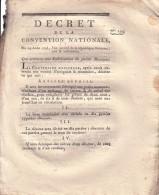 DECRET DE LA CONVENTION NATIONALE QUI ORDONNE UNE FABRICATION DE PETITE MONNOIE LE 24 AOUT 1793. - Décrets & Lois