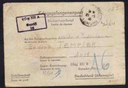 FRANCE - OFLAG XIII A / 1941  CAMP D' OFFICIERS PRISONNIERS DE GUERRE/ 2 IMAGES  (ref 5188) - Marcophilie (Lettres)
