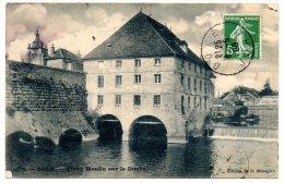 CP, 38, DOLE, Vieux Moulins Sur Le Doubs, écrite, Voyagé En 1908 - Dole
