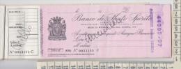Assegno Bancario Banco Di Santo Spirito Annullato 1960 - Azioni & Titoli