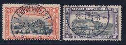 Belgian Congo, Scott # C1-2 Used Congo Bldgs, 1920 - Belgian Congo