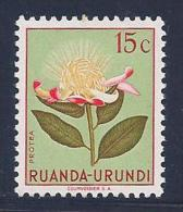 Ruanda-Urundi, Scott # 115 MNH Flower, 1953 - 1948-61: Mint/hinged