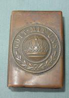 WWI Trench Art Match Box Holder - Boite D'allumettes - Matchbox Gott Mit UNS - Boites D'allumettes