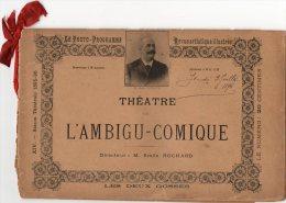 - REVUE Artistique THEATRE De L'AMBIGU-COMIQUE - Les Deux Gosses 1896 -  203 - Théatre & Déguisements