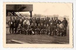 Photo Groupe Mineurs Mines Charbon Train - Métiers
