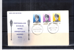FDC Malaysia - Yang Dipertuan Agong - Complete Set - 1976 (to See) - Malaysia (1964-...)
