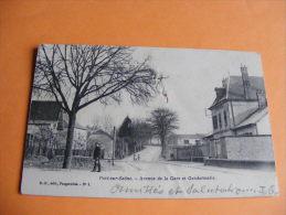 Cpa Port Sur Saone  Avenue De La Gare Et Gendarmerie   Edit. R O - Francia