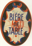 PUBLICITE ETIQUETTE BOISSON ALCOOL BIERE DE TABLE COLLECTION - Beer