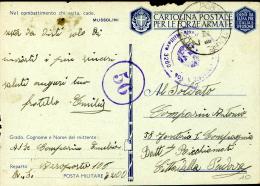 FRANCHIGIA WWII POSTA MILITARE 3200 AEROPORTO 106 1943 X CITTADELLA - Militärpost (MP)