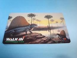 Xerox Prepaid Copy Card: Dinosaur, USED - Phonecards
