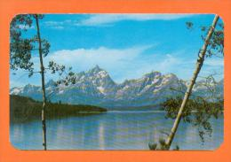U.S.A.  WYOMING  -  3909  Grand Teton And Range From Jackson Lake - Etats-Unis