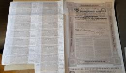 Russie 1913 Société Des Embranchements De Chemins De Fer  Obligation De 187,50 Roubles - Aandelen