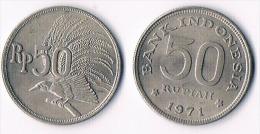 INDONESIA 50 Rupiah-1971 - Indonésie