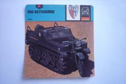 Sports Moto - Carte Fiche Moto - Nsu Kettenkrad 1941 ( Description Au Dos De La Carte ) - Cartoline
