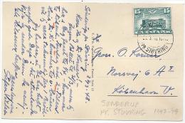 SØNDERUP PR: STØVRING Postmark Used Only Around 1948 On Postcard - Danemark
