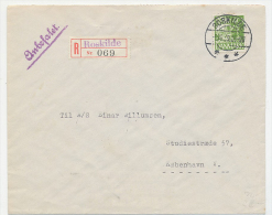 ROSKILDE Provisional Registered Handstamp On Label Used 1939 - 1913-47 (Christian X)
