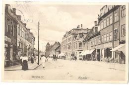 ROSKILDE Good Streetlife In Algade 1918 Star Cancel St. Jørgensbjerg - Denmark