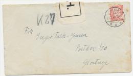 "LABEL ""P.H."" On Censored Prisoner Mail To Postbox 40, Glostrup 1949 - Lettere"