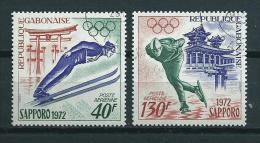 1972 Gabon Complete Set Olympic Games Sapporo Used/gebruikt/oblitere - Gabon (1960-...)