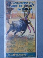 ESPAGNE - AFFICHE CORRIDA DE TOROS- 1888-1988-PLAZA DE TOROS DE TAFALLA-JULIO ROBLES-JUAN RUIZ- LOZANO- - Affiches