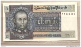 Birmania - Banconota Non Circolata FdS Da 5 Kyats P-57 - 1973 - Myanmar