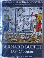 75008- PARIS - AFFICHE BERNARD BUFFET DON QUICHOTTE- 1989- GALERIE MAURICE GARNIER 6 AVENUE MATIGNON