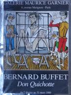 75008- 75 - PARIS - AFFICHE BERNARD BUFFET DON QUICHOTTE- 1989- GALERIE MAURICE GARNIER 6 AVENUE MATIGNON - Affiches