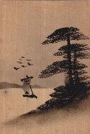 Matériaux Différents - Fantaisies - Carte En Bois Peinte - Japon - Cartes Postales
