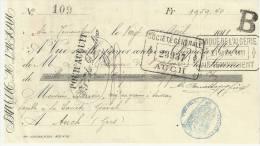 CHEQUE. ALGÉRIE. BANQUE DE ALGÉRIE. 1911. - Lettres De Change