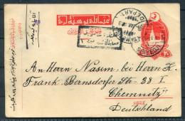 1917 Turkey CENSORED Postal Stationery SIRKEDJI To Chemnitz Germany - 1858-1921 Ottoman Empire