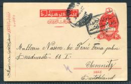 1917 Turkey CENSORED Postal Stationery ISTAMBUL To Chemnitz Germany - 1858-1921 Ottoman Empire
