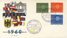 FDC Duitsland - 1960 - Blanco / Open Klep - Europa-CEPT