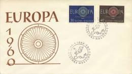 FDC Finland - 1960 - Blanco - Europa-CEPT