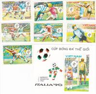 Vietnam 1990 World Cup Soccer Set And Mini Sheet MNH - Vietnam