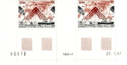 TERRES AUSTRALES Et ANTARCTIQUES  :  SATELLITE INMARSAT  - N° 99 - Coin Daté 21/1/87 - Blocs-feuillets