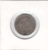 20 PARA 1884 - Serbie