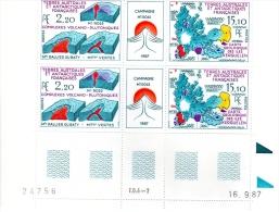TERRES AUSTRALES Et ANTARCTIQUES  :  Coupe Du Mont Ross, Carte Géologique Des îles  - N° 139A - Coin Daté 16/09/87 - Blocs-feuillets