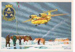 683 AAA Novara Dirigibile Italia Polo Nord Brovarone Airship Dirigeable Antonov AN-74 Base Borneo - Dirigibili