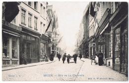Mons Rue De La Chaussée édit Walbonnet Série 1.6 Bon état, Carte Animée Café Vins Bluyssen - Mons