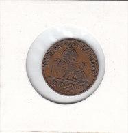 2 CENTIMES Cuivre Léopold II 1905 FR - 02. 2 Centimes