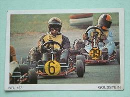Go Kart / Karting - Goldstein / Sthor ( 7,5 X 5 Cm. ) Zelfklever / Sticker Nr. 186 En 187 ( Zie/voir Details Foto ) ! - Carreras De Carros