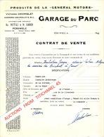 CONTRAT DE VENTE D´une Voiture CHEVROLET En 1946 à PERUWELZ Par Os. POTTIEZ & M. HAMON Garage Du Parc - Unclassified