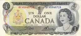 BILLET # CANADA # 1973 # PICK 78 # UN DOLLAR   # CIRCULE # - Canada