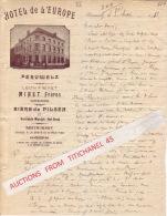 Lettre Superbement Illustrée 1911 PERUWELZ - HOTEL DE L´EUROPE - Propriétaires : MINET Frères - Zonder Classificatie