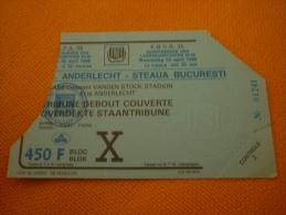 RSC Anderlecht-Steaua Bucuresti Football UEFA Champions League Match Ticket Billet 02/04/1986 - Match Tickets