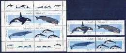 #A1696. Iceland 1994. Whales. Michel 905-08 + Block 23. MNH(**) - Ungebraucht