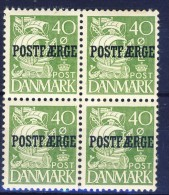 #Denmark 1936. POSTFÆRGE. Bloc Of 4. Michel 19 I. MH(*) - Paketmarken