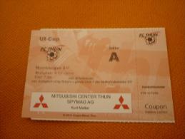 Thun-Hamburger Hamburg Football UEFA Match Ticket Billet - Tickets D'entrée