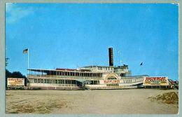Showboat S.S. Mayflower, Nantasket Beach, Massachusetts Ca. 1960 Postcard (ee-74) - United States